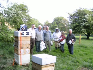Checking out the new apiary